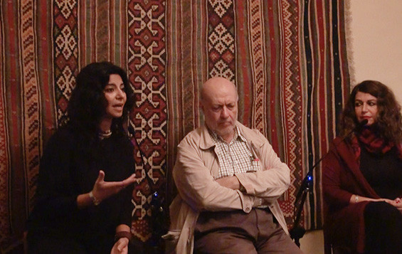 Racha Salah, Roger assaf and Raghad Mardinni discuss patronage and funding for Syrian arts and culture in times of conflict